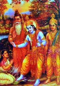 Sri Rama and Vishwamitra